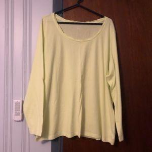 Lands' End Tops - Spring green twist accent shirt